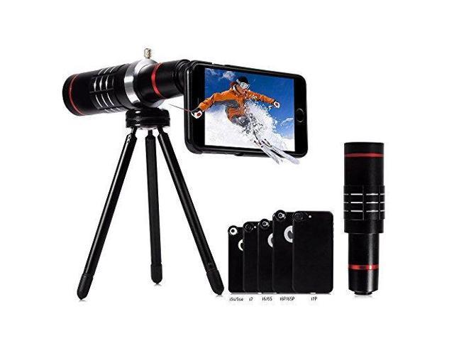 lowest price 38988 aeb81 18X iPhone Telephoto Lens, Evershop Aluminum Telephone Telescope Telephoto  Phone Lens with Tripod + Phone Cases for iPhone 8/ 7/ 7 Plus/ 6/ 6S/ 6S ...
