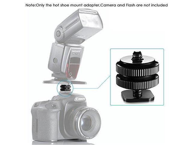 Neewer 2 Pieces Mini Tripod Ball Head with Lock and Hot Shoe Adapter Camera Cradle 1//4 inch Screw Mount for VR Base Stations,DSLR Camera LED Light Video Camcorder Monitor