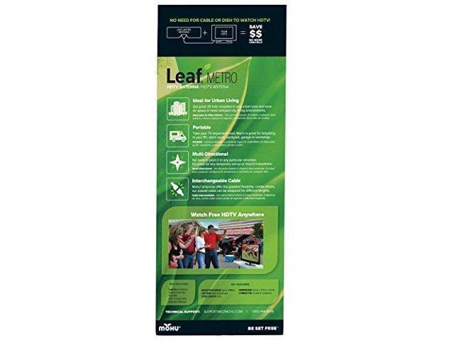 25 Mile Range,Paper-thin Portable Reversib Indoor Mohu Leaf Metro TV Antenna