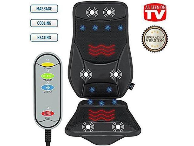 Gideon Luxury Car Seat Cushion Cooling And Heating Ventilated Seat Cushion For Car Home Or Office With Vibrating Massager Back Massager Cushion