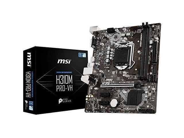 MSI Pro Series Intel Coffee Lake H310 LGA 1151 DDR4 Onboard Graphics Micro  ATX Motherboard (H310M PRO-VH) - Newegg com