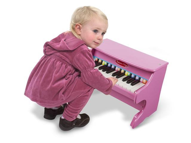 Melissa Doug Learn To Play Pink Piano With 25 Keys And Color Coded Songbook