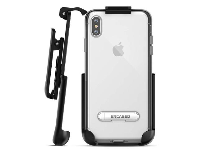 new arrival 9c9ac b3bd3 Encased iPhone Xs MAX Belt Clip Clear Case with Holster Clip, Ultra Slim  Fit Transparent Cover with Metal Kickstand and Belt Holder (Reveal Series)  ...