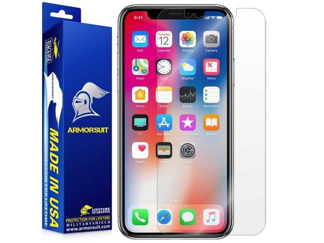 buy popular 3c236 fcaf3 ArmorSuit Apple iPhone X Screen Protector Max Coverage MilitaryShield  Screen Protector for iPhone X - HD Clear Anti-Bubble Film - Newegg.com
