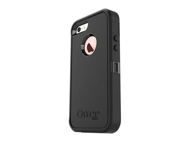 on sale 0f354 dec7c OtterBox DEFENDER SERIES Case for iPhone 5/5s/SE ONLY - Retail Packaging -  BLACK - Newegg.com