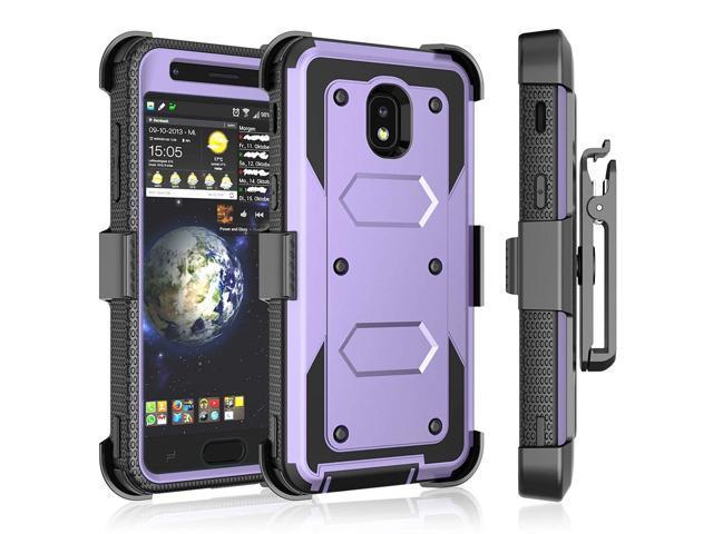 Tekcoo Samsung Galaxy J3 2018/J3 Orbit/J3 Achieve/J3 Prime 2/J3 Eclipse  2/J3 Aura/J3 Star Case Holster Clip, [Tshell] [Built-in Screen] Swivel  Locking