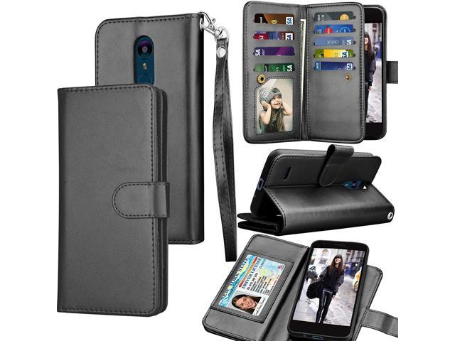 Tekcoo Compatible for LG Aristo 2/LG Tribute Dynasty/LG Zone 4/Fortune  2/Risio 3/Rebel 3 LTE PU Leather Case, Luxury ID Cash Credit Card Holder