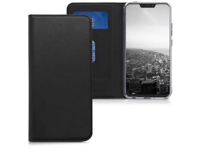 best website 7ab81 5e75f kwmobile Flip Case for Asus Zenfone 5 / 5Z (ZE620KL/ZS620KL) - Smooth PU  Leather Wallet Folio Cover with Stand Feature - Black - Newegg.com