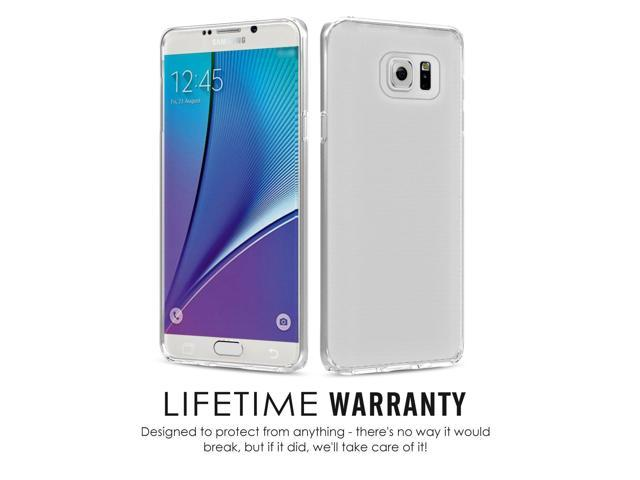 buy popular c2323 ad5d0 Galaxy Note 5 Case, MoKo Shock Absorbing TPU Bumper Slim Clear Protective  Case with Anti-Scratch Hard Back Cover for Samsung Galaxy Note 5 5.7 Inch  ...