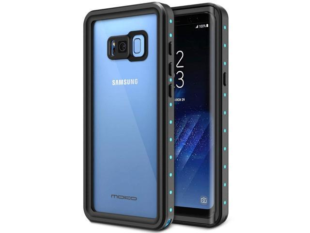 the best attitude 19b0d 16707 MoKo Samsung Galaxy S8 Plus Waterproof Case, Ultra Protective Case with  Built-in Screen Protector Shock-Absorbing Bumper Dustproof Submersible ...