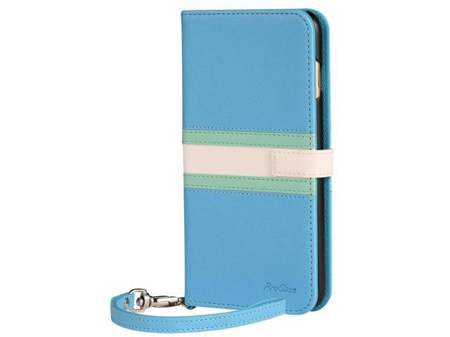 iphone 8 plus wallet case blue