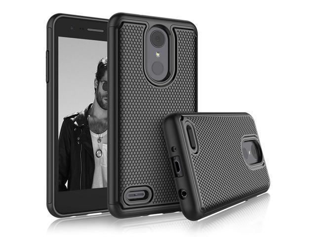 LG Aristo 2 Case, LG Tribute Dynasty/Fortune 2/Zone 4/Risio 3 Sturdy Cases,  Tekcoo [Tmajor] Shock Absorbing [Black] Rubber Silicone & Plastic Scratch
