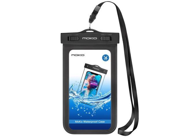 hot sale online 2242f 81b70 MoKo Waterproof Phone Pouch, Underwater Waterproof Cellphone Case Dry Bag  with Lanyard Armband Compatible with iPhone X/Xs/Xr/Xs Max, 8/7/6s Plus, ...