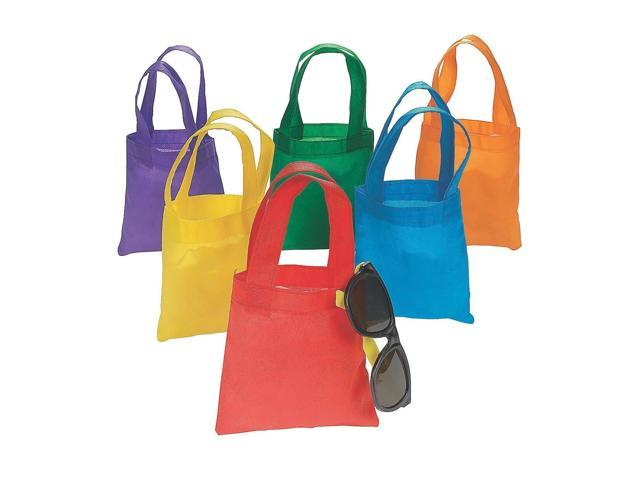 Fun Express Poly Non Woven Party Tote Bags 6 Inches 24 Pack Newegg