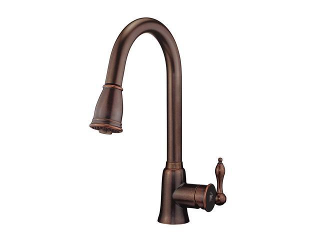 Danze D454410BR Prince Single Handle Pull-Down Kitchen Faucet with SnapBack  Retraction, Tumbled Bronze - Newegg com