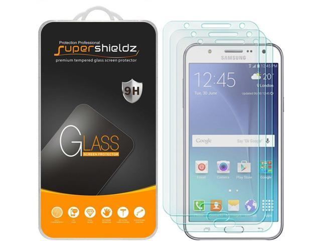 [3-Pack] Supershieldz for Samsung Galaxy J7 (Boost Mobile & Virgin Mobile)  J700P/J700M Tempered Glass Screen Protector, Anti-Scratch,