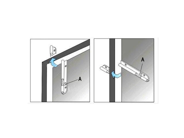 Uxcell a15121800ux0734 Barrel Bolt 4 inch Stainless Steel Automatic Door Safty Latch Lock Barrel Bolt 2Pcs