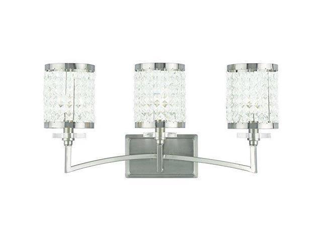 Livex Oldwick Modern Brushed Nickel 3 Light Bathroom: Livex Lighting 50563-91 Gramercy 3-Light Bath Light