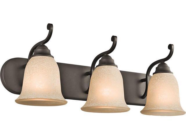Shop Kichler Lighting 4 Light Bayley Olde Bronze Bathroom: Kichler 45423OZ, Camerena Glass Wall Vanity Lighting, 3