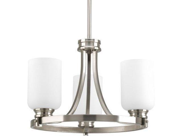 Progress Lighting Lucky Collection 4 Light Brushed Nickel: Progress Lighting P3954-09 Orbitz Collection 3-Light Semi