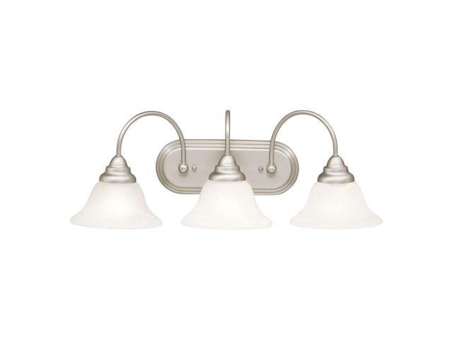 Bathroom Vanity 3 Light Fixture Brushed Nickel Bell Wall: Kichler 10609NI Bath Vanity Wall Lighting Fixtures
