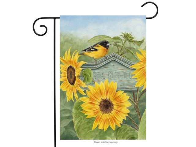 """Sunflower Field Summer Garden Flag Butterflies Floral 12.5/"""" x 18/"""" Briarwood Lane"""