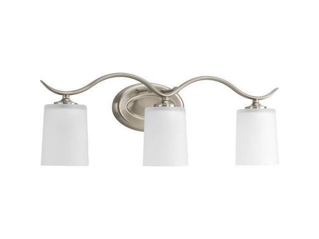 Progress Lighting Rizu Collection 3 Light Brushed Nickel: Progress Lighting P2020-09 Inspire Collection 3-Light