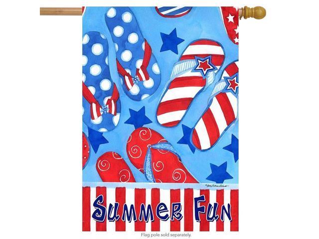 "American Garden Summer House Flag Patriotic Floral 28/"" x 40/"" Briarwood Lane"