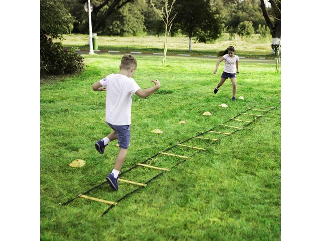 Canppny Speed Agility Training Kit—Includes Agility Ladder With Carrying Bag,