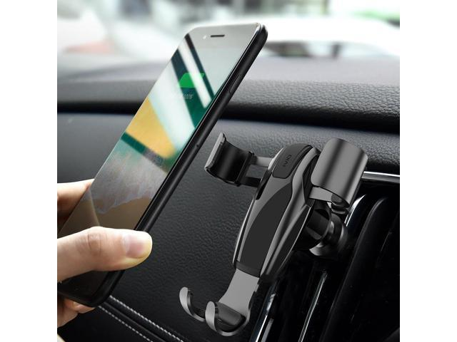 Cell Phone Holder For Car Ainope Gravity Car Phone Mount Auto Clamping Air Vent Car Phone Holder Universal Car Phone Mount Compatible Iphone Xs