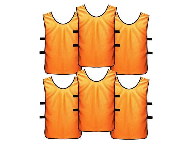 release date 0616d 640e2 SportsRepublik Soccer Pinnies | Scrimmage Vests (6-Pack) - Perfect as Kids  Basketball Jerseys, Youth Football Practice Jerseys or Pennies for Soccer  ...