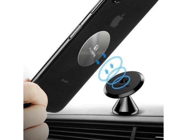 Magnetic Phone Car Mount Adhesive - FLOVEME 360° Rotate Magnet Cell Phone  Holder for Car Panel Dashboard Hands Free Magnetic Phone Mount Compatible