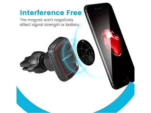 Ultimate Air Vent Magnetic Car Phone Mount - Jet Black Edition