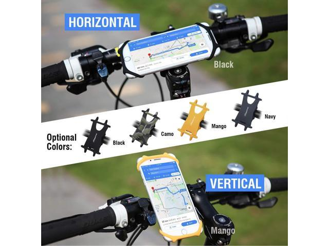 Cyclepartner Universal Phone Mount for Bike Non-Slip Shockproof German Silicone Cellphone Bicycle Motorcycle Holder Mobile Smartphone Compatible for iPhone X XS MAX,Plus 8 7 6 5,Galaxy,Note Mango M