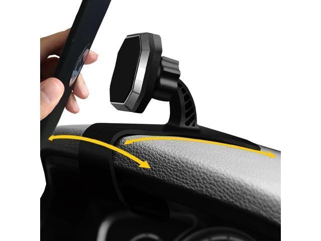 Magnetic Phone Car Mount, HUD Design vodool Universal Car Phone Holder  Adjustable Dashboard Phone Mount for Safe Driving for iPhone 8 / 8Plus / X,