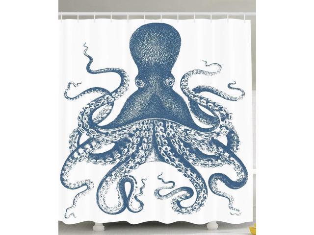Ambesonne Kraken Shower Curtain Octopus