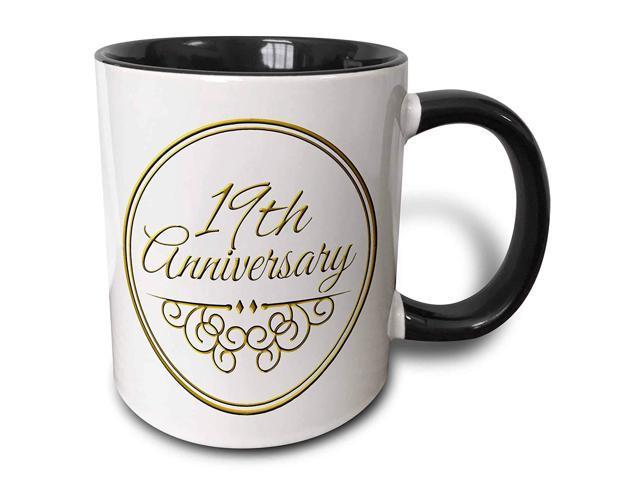 19 Wedding Anniversary Gifts By Year: 3dRose (mug_154461_4) 19th Anniversary Gift