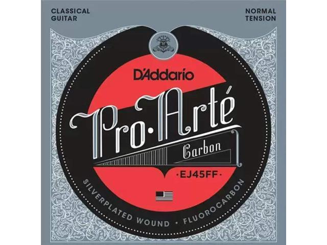 d 39 addario ej45ff proarte carbon classical guitar strings dynacore basses normal tension. Black Bedroom Furniture Sets. Home Design Ideas