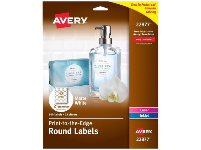 Avery 2 Inch Round Labels for Laser & Inkjet Printers, 300 Labels (22877) -  Newegg com