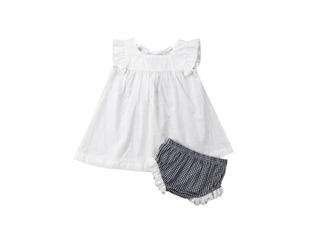 35e5f65324e8e YOUNGER TREE Newborn Infant Baby Girl Summer Short Pants Set Dress + Tutu  Pants Kids Short Clothes - Newegg.com