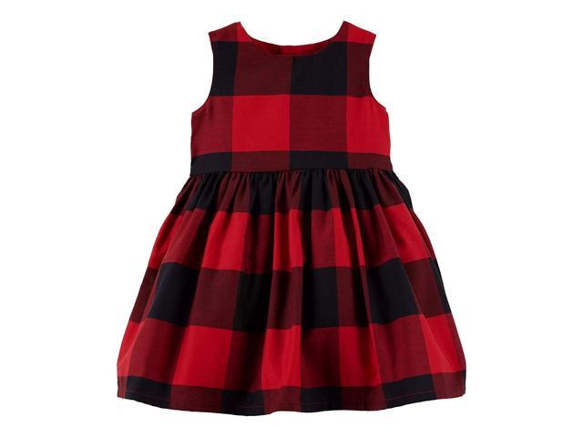 cf0b55570d4 Carter s Baby Girls Red Buffalo Check Holiday Dress - Newegg.com
