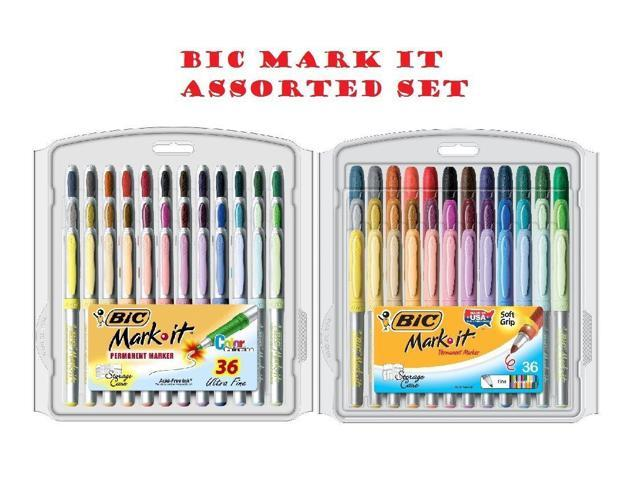 Bic Mark It Permanent Markers Fine Point And Ultra Fine Point Assorted Colors 36 Set Sold As 1 Set Bright Fun Smooth And Fashionable