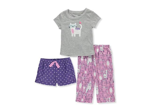 6d5e94fb4464a Carter's Girls' 3-Piece Flutter Sleeve Jersey Pajamas - Newegg.com