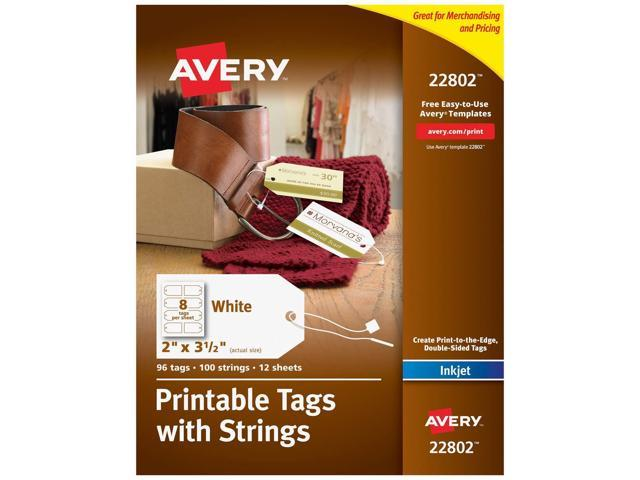 picture relating to Printable Printers known as Avery Printable Tags for Inkjet Printers Simply just, Tags With Strings, 2\
