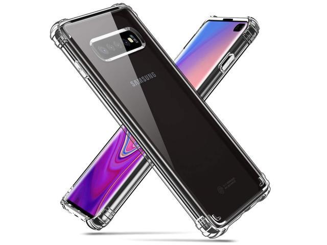 PIXIU Galaxy S10 Plus case Clear, Crystal Clear TPU Bumper case Cover with  Reinforced Corners, Anti-Scratch Hard PC Transparent Back for Samsung