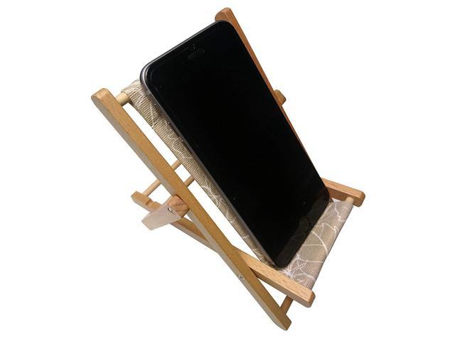 Enjoyable Hanpo Cell Phone Holder Wood Canvas Beach Deck Chair Gmtry Best Dining Table And Chair Ideas Images Gmtryco