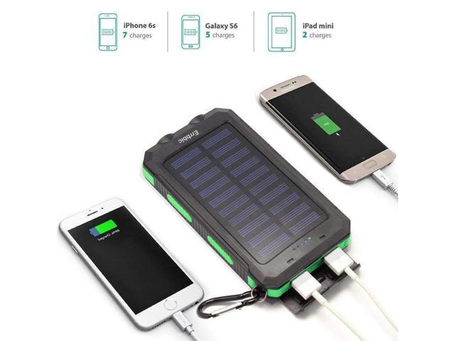 20000mAh Solar Power Bank Solar Charger Waterproof Portable