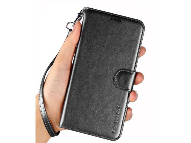 the best attitude 53c08 5e5d6 Galaxy J7 2018 Case/J7 V Case 2018/Galaxy J7 Refine Case/Galaxy J7 Star  Case, ERAGLOW Luxury PU Leather Wallet Flip Protective Case Cover w Card  Slots ...