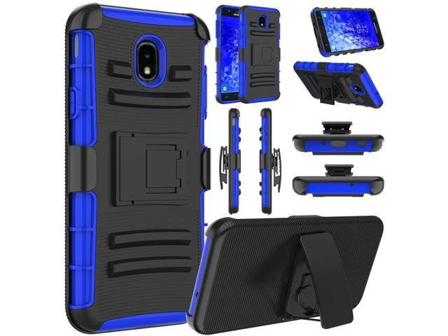 Galaxy J7 Crown Case, J7 2018, J7 Refine, J7 Star Case, Elegant Choise  Hybrid Heavy Duty Shockproof Rugged Holster Protective Case with Kickstand  and