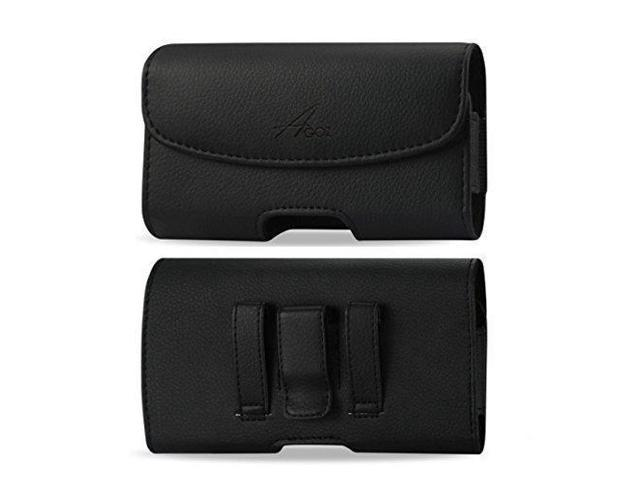 for Kyocera DuraForce PRO E6830 E6820 E6810 E6833, Kyocera DuraForce PRO 2  E6910, Premium Leather AGOZ Pouch Case Holster with Belt Clip & Belt Loops